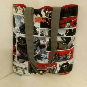 Handmade Bags - The Walking Dead, Woman With Sword Inspired Tote,